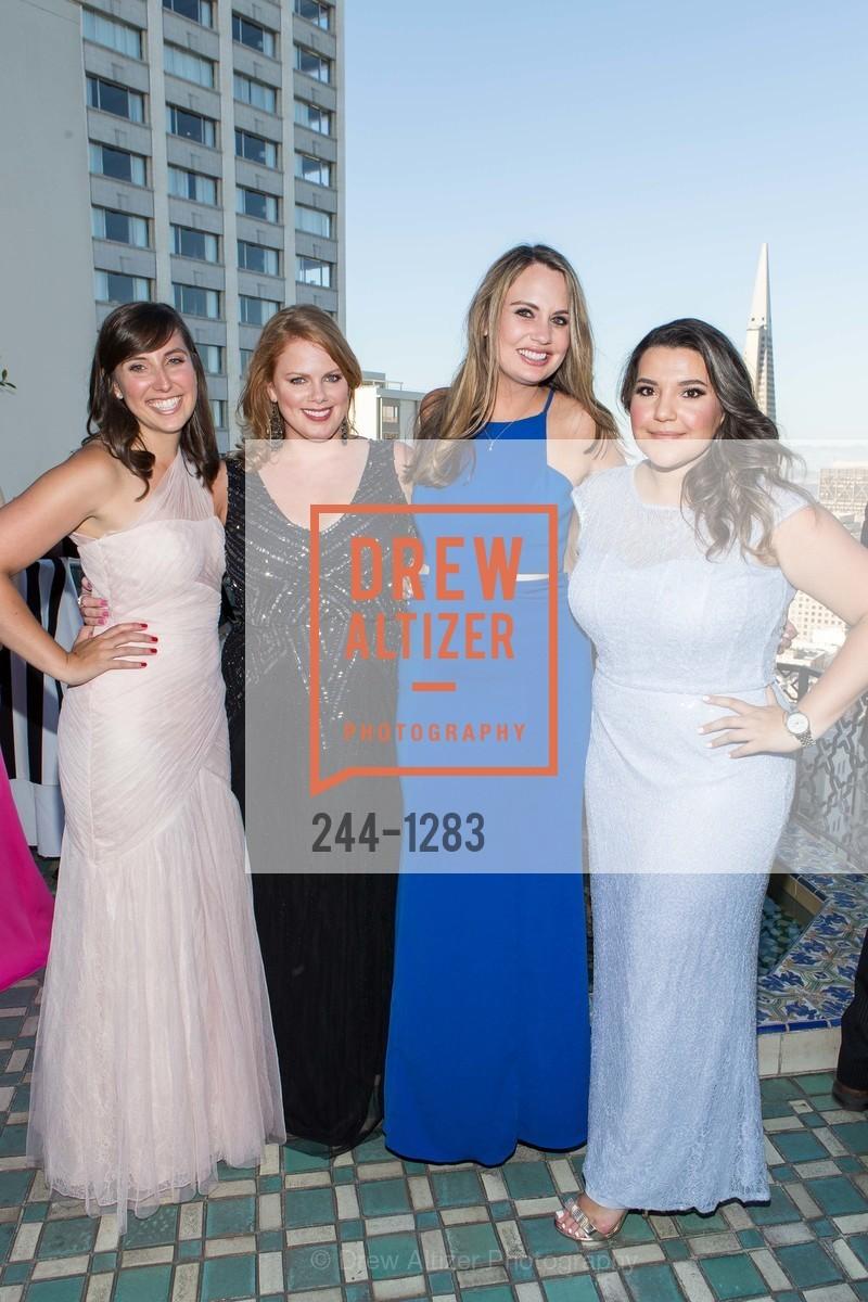 Ashley Kokesh, Elizabeth Wilson, Ashley Grinchis, Andrea Valencia, Spinsters of San Francisco Annual Ball 2016, US, June 25th, 2016