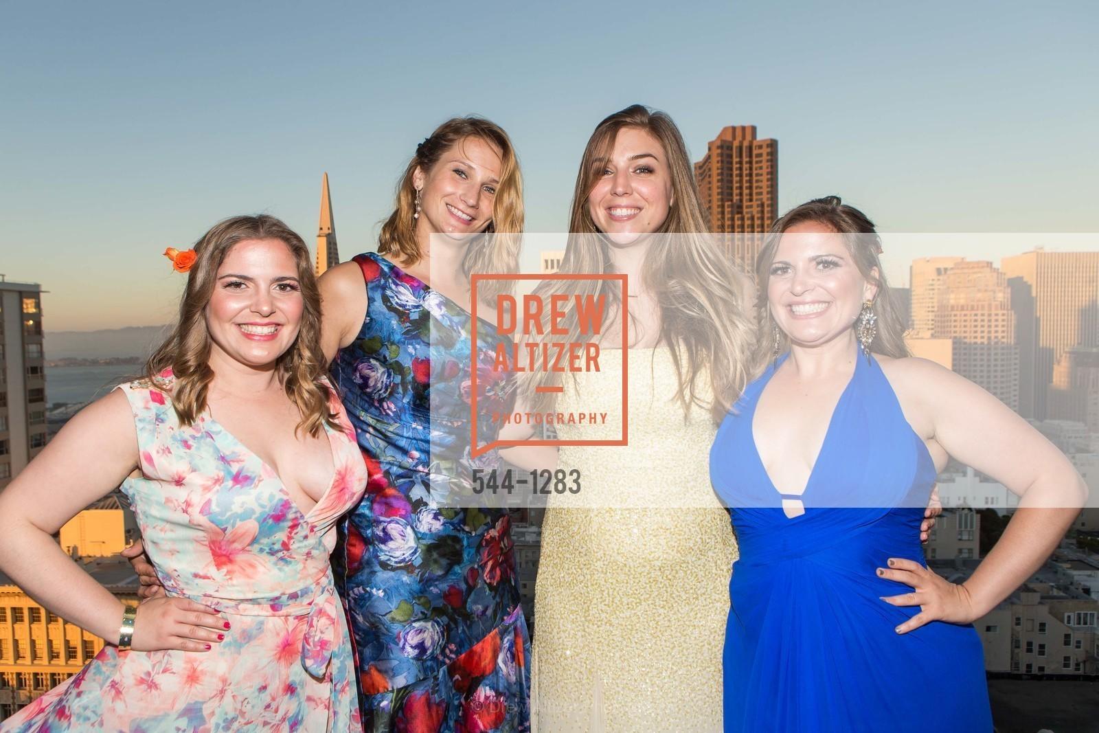 Alexandra Constanine, Danielle Schraner, Alyssa Nordstrom, Jana Constantine, Spinsters of San Francisco Annual Ball 2016, US, June 25th, 2016