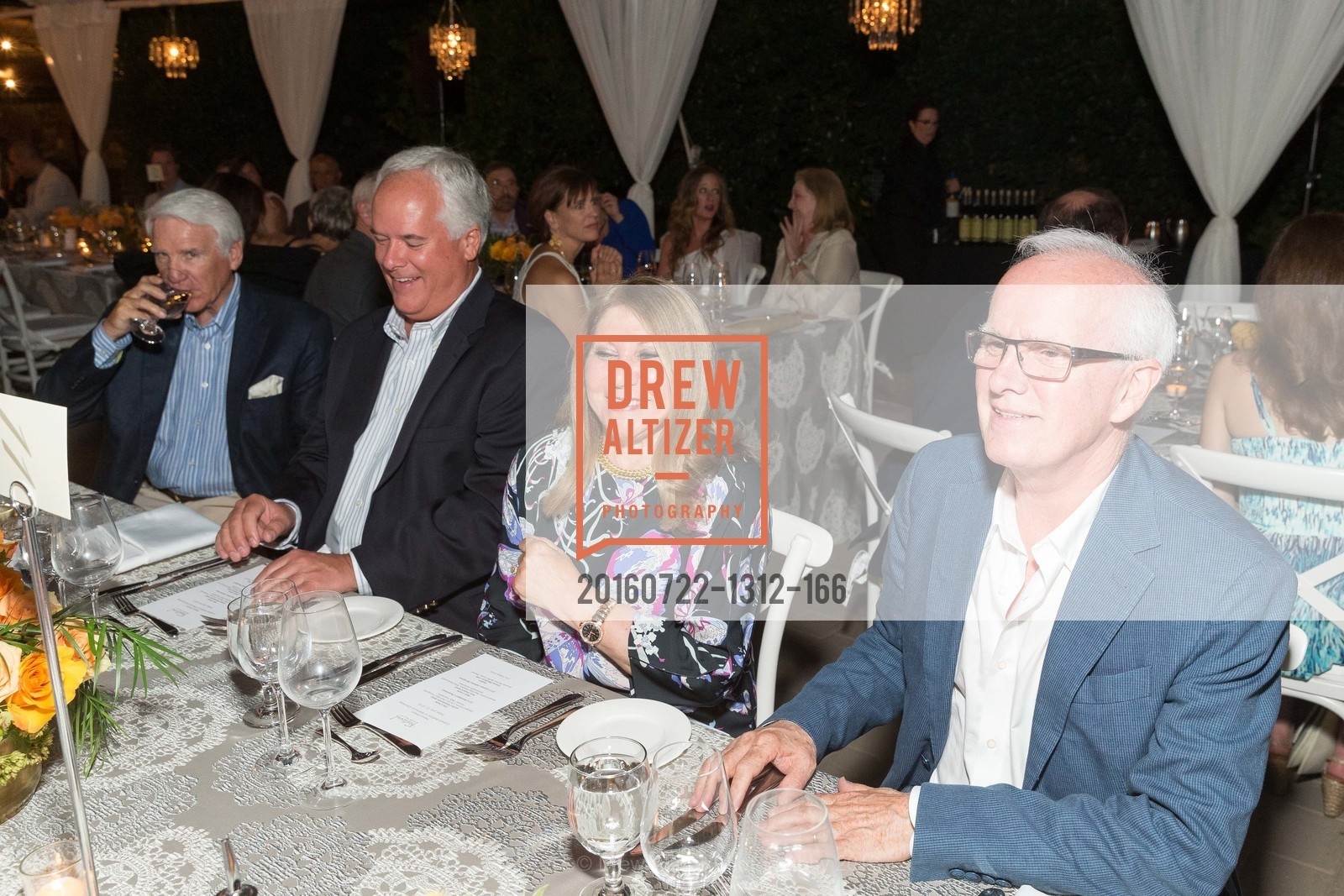 Timothy Blackburn, Tim McCarthy, Athena Blackburn, Helge Tomasson, Festival Napa Valley Patron Dinner at The Culinary Institute of America, The Culinary Institute of America. 2555 Main Street, July 22nd, 2016