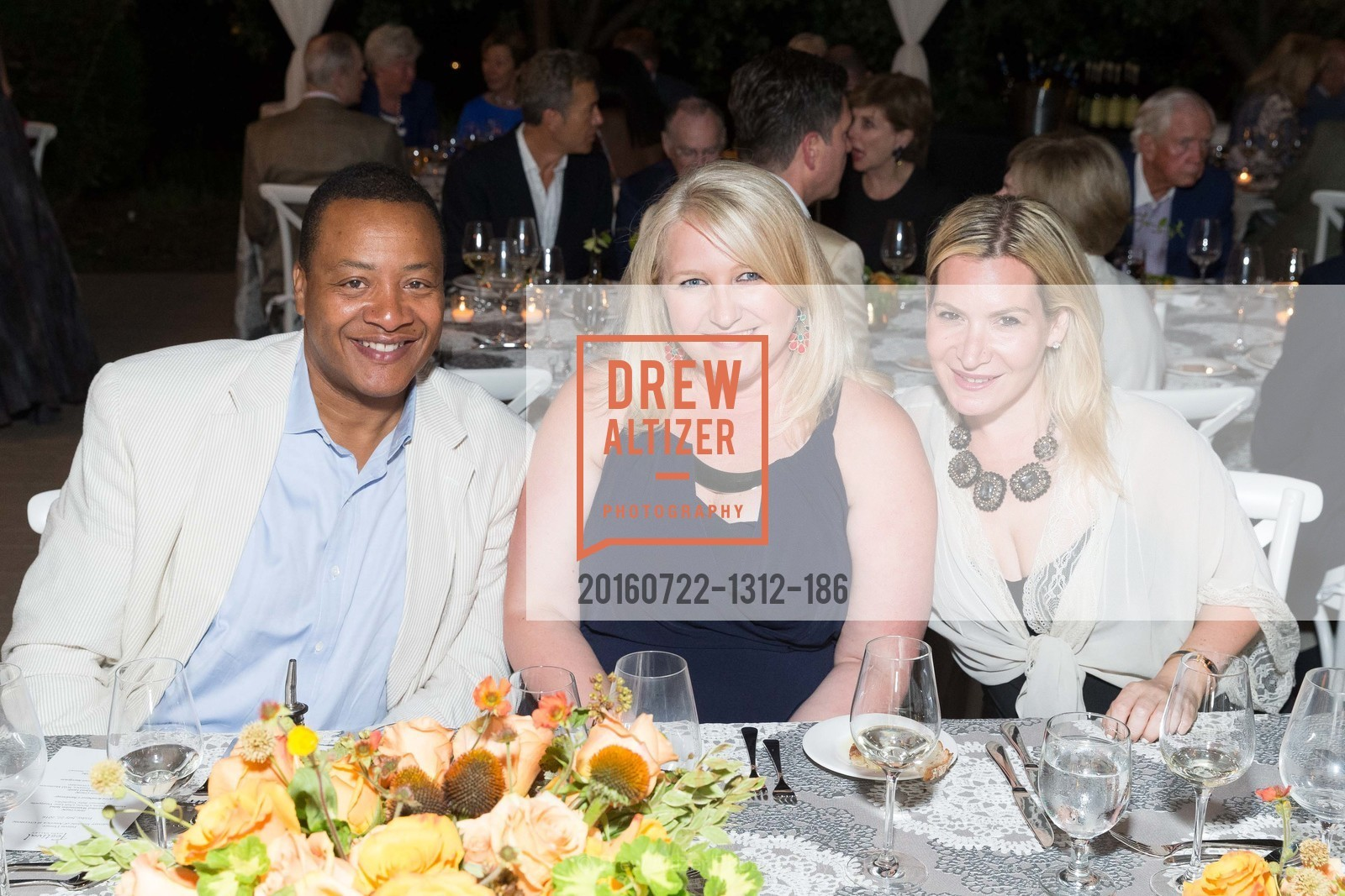 Vernon Norris, Sonia Tolbert, Michelle Fox, Festival Napa Valley Patron Dinner at The Culinary Institute of America, The Culinary Institute of America. 2555 Main Street, July 22nd, 2016