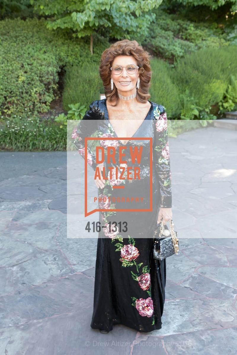 Sophia Loren, Festival Napa Valley Tribute to Margrit Mondavi at Far Niente, Far Niente Winery. 1350 Acacia Dr, July 23rd, 2016