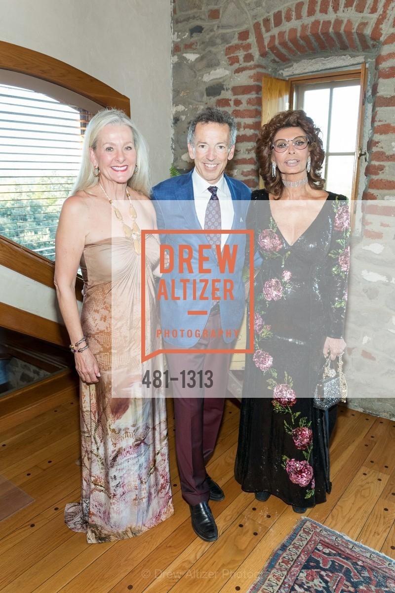 Beth Nickel, Rick Walker, Sophia Loren, Festival Napa Valley Tribute to Margrit Mondavi at Far Niente, Far Niente Winery. 1350 Acacia Dr, July 23rd, 2016