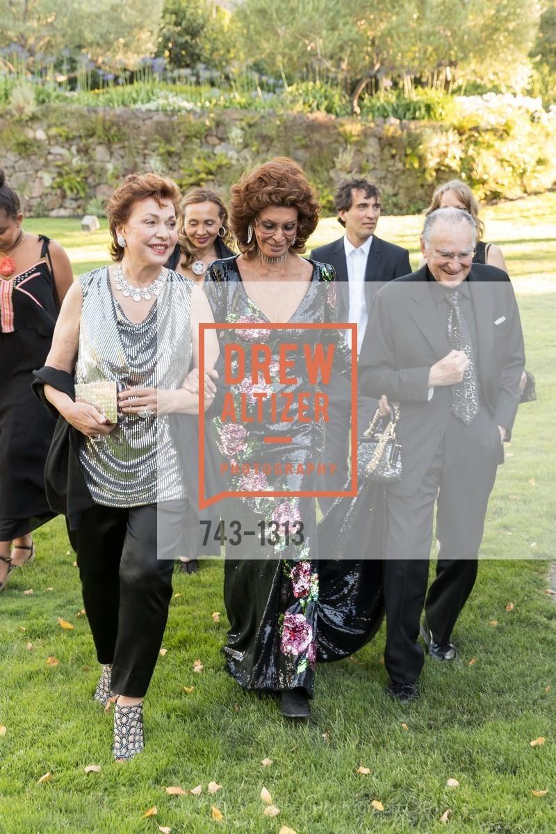 Maria Manetti Shrem, Sophia Loren, Jan Shrem, Festival Napa Valley Tribute to Margrit Mondavi at Far Niente, Far Niente Winery. 1350 Acacia Dr, July 23rd, 2016