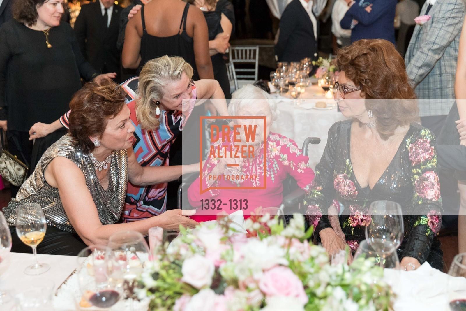 Maria Manetti Shrem, Jeanne Lawrence, Margrit Mondavi, Sophia Loren, Festival Napa Valley Tribute to Margrit Mondavi at Far Niente, Far Niente Winery. 1350 Acacia Dr, July 23rd, 2016