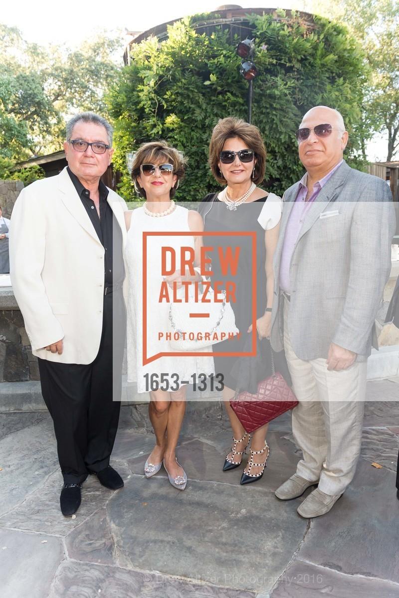 Farrok Yazdi, Nikta Shokooh, Maya Yazdi, Farrokh Shokooh, Festival Napa Valley Tribute to Margrit Mondavi at Far Niente, Far Niente Winery. 1350 Acacia Dr, July 23rd, 2016