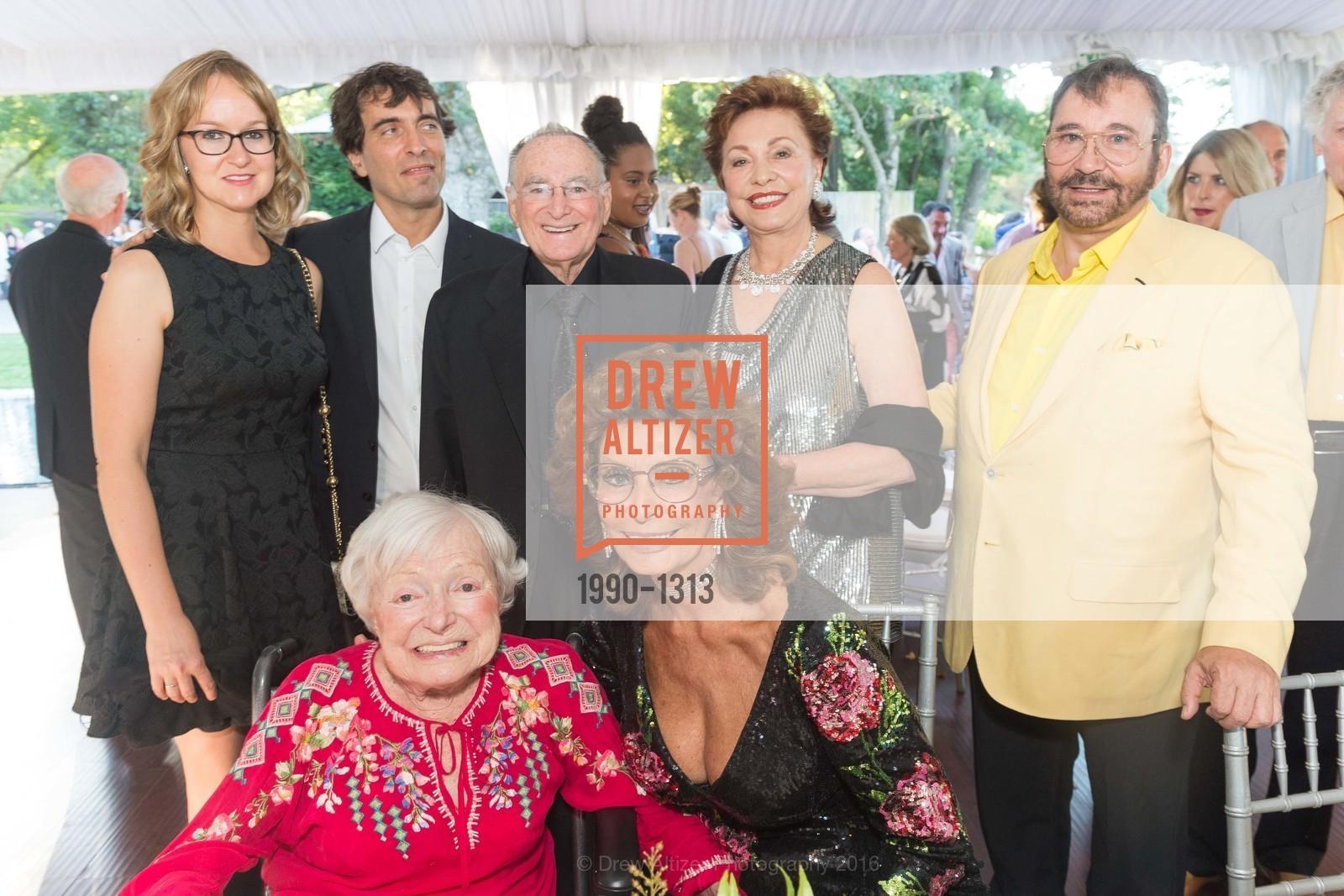 Andrea Ponti, Carlo Ponti, Jan Shrem, Margrit Mondavi, Maria Manetti Shrem, Sophia Loren, Jose Luis Nazar, Photo #1990-1313