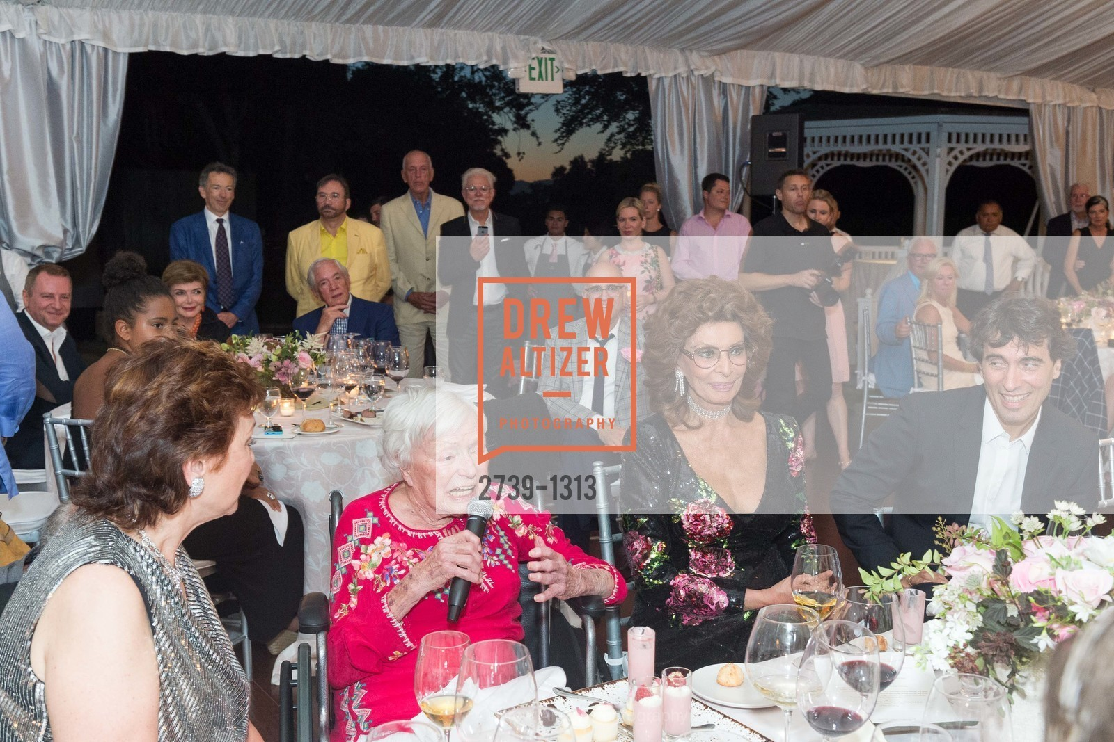 Maria Manetti Shrem, Margrit Mondavi, Sophia Loren, Carlo Ponti, Photo #2739-1313