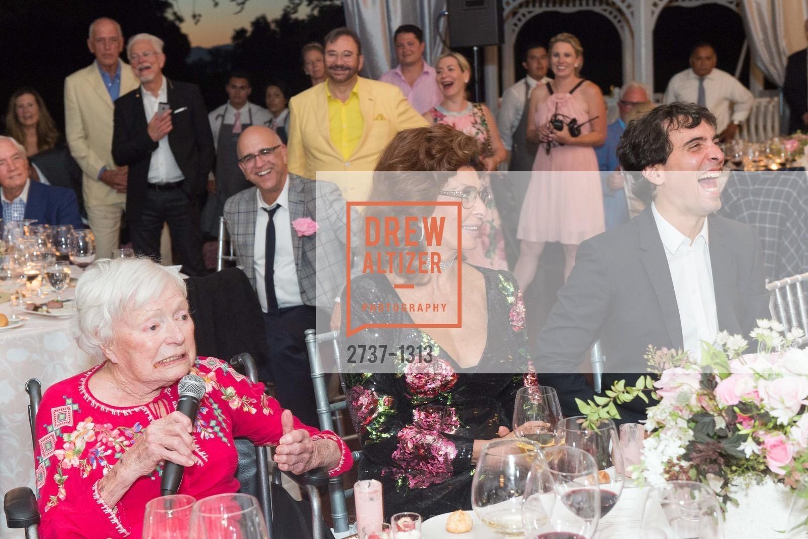 Margrit Mondavi, Sophia Loren, Carlo Ponti, Festival Napa Valley Tribute to Margrit Mondavi at Far Niente, Far Niente Winery. 1350 Acacia Dr, July 23rd, 2016