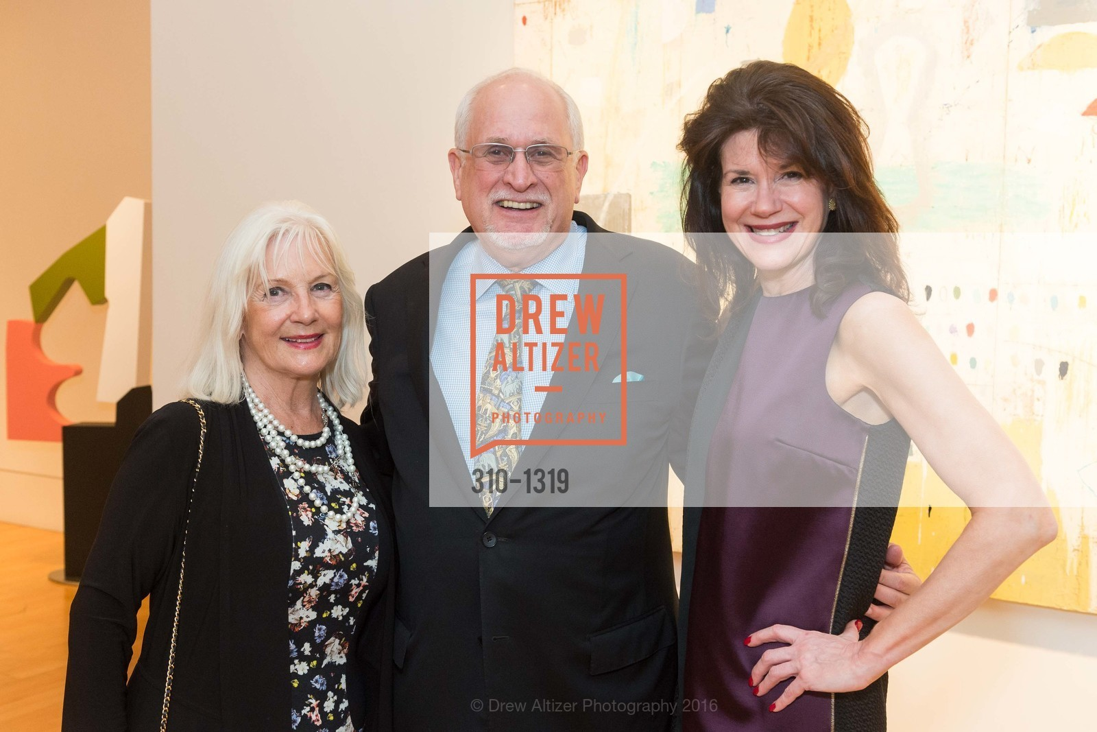 Elaine Mellis, John Hinman, Arlene Inch, Pre-party for A Masked Ball to Unmask Domestic Violence, Caldwell Snyder Gallery. 341 Sutter St, July 20th, 2016