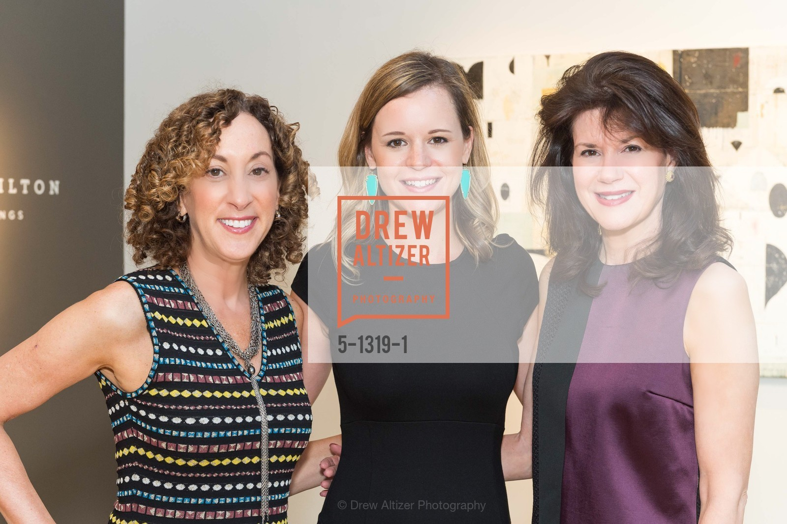 Susan Snyder, Kristin Campbell, Elaine Mellis, Pre-party for A Masked Ball to Unmask Domestic Violence, Caldwell Snyder Gallery. 341 Sutter St, July 20th, 2016