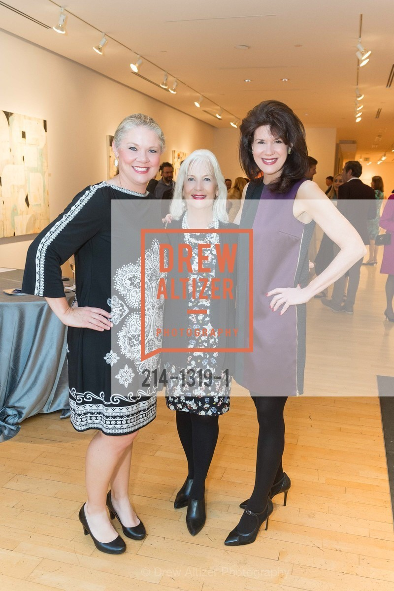 Katie Ray Jones, Arlene Inch, Elaine Mellis, Pre-party for A Masked Ball to Unmask Domestic Violence, Caldwell Snyder Gallery. 341 Sutter St, July 20th, 2016