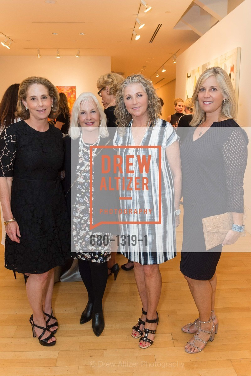 Patsy Lurie, Arlene Inch, Cherese Pouliot, Jane Inch, Pre-party for A Masked Ball to Unmask Domestic Violence, Caldwell Snyder Gallery. 341 Sutter St, July 20th, 2016