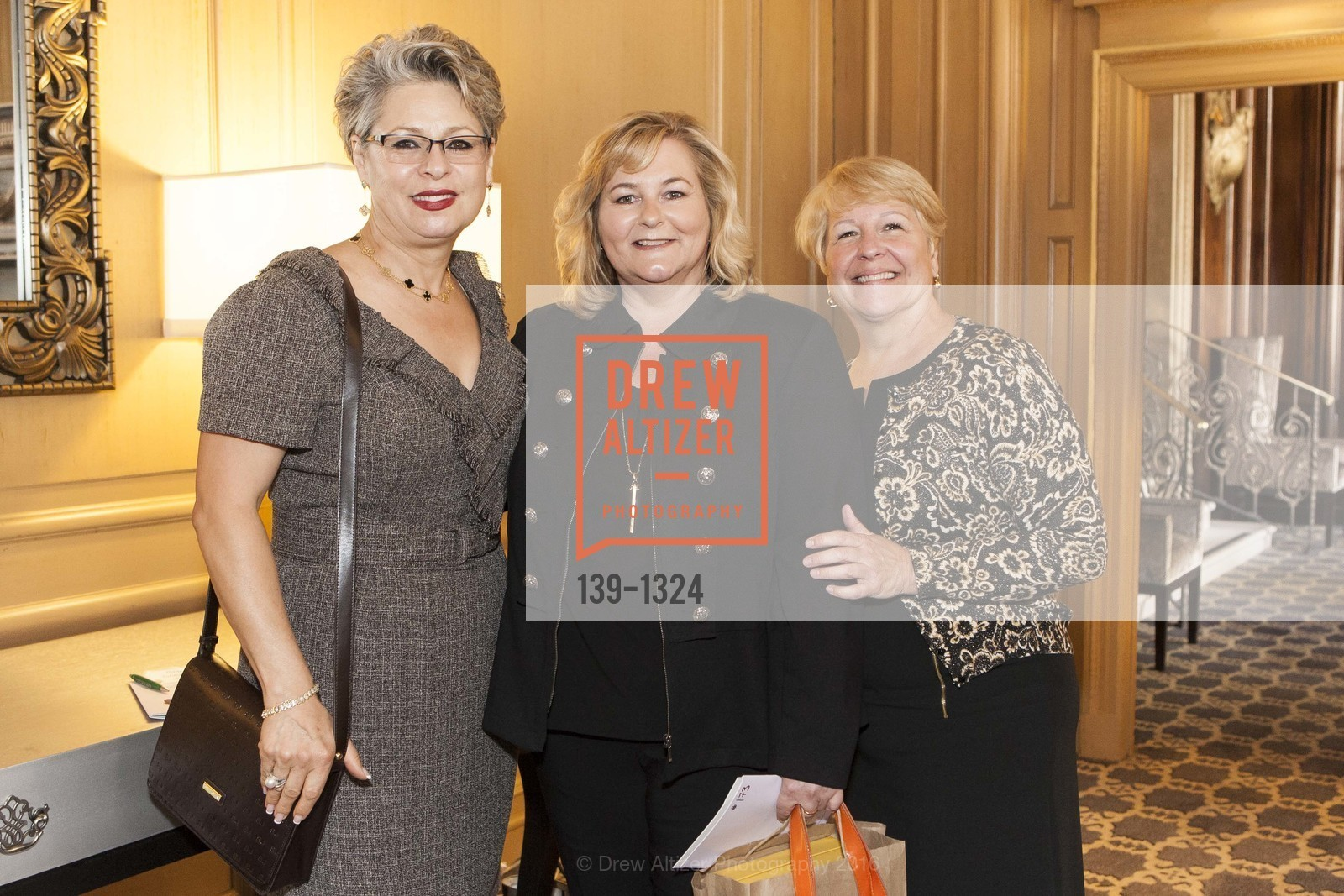 Sonia Tahbazof, JoAnne Schultz, Janet Egler, The Salvation Army's 12th Annual Flower Power Luncheon, Sir Francis Drake Hotel, August 3rd, 2016
