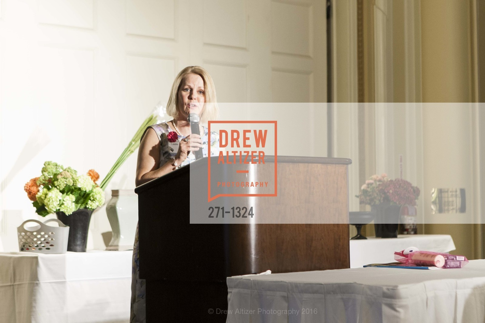 Leslie Bauer, The Salvation Army's 12th Annual Flower Power Luncheon, Sir Francis Drake Hotel, August 3rd, 2016