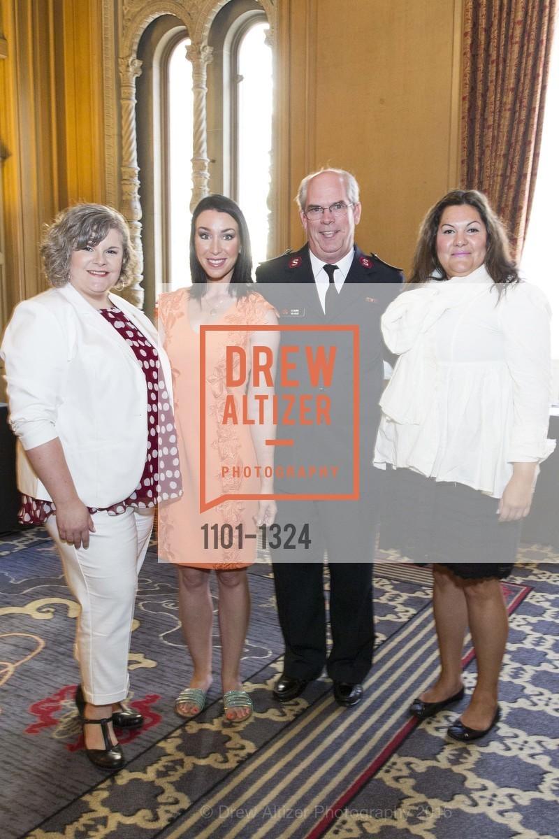 Jennifer Cantero, Leigh Martinez, Tim Foley, Melanie Flood, The Salvation Army's 12th Annual Flower Power Luncheon, Sir Francis Drake Hotel, August 3rd, 2016