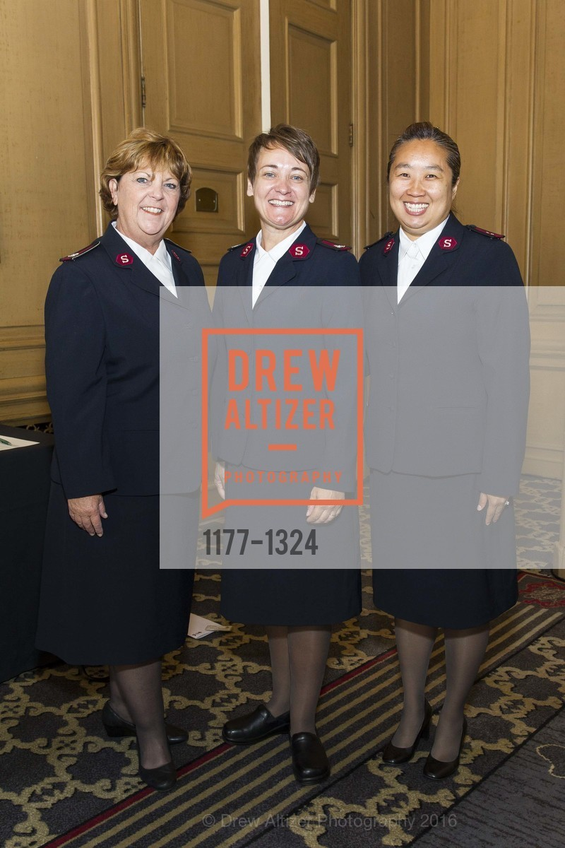 Michele Lescano, Jennifer Erickson-King, Beverly Lloyd, The Salvation Army's 12th Annual Flower Power Luncheon, Sir Francis Drake Hotel, August 3rd, 2016