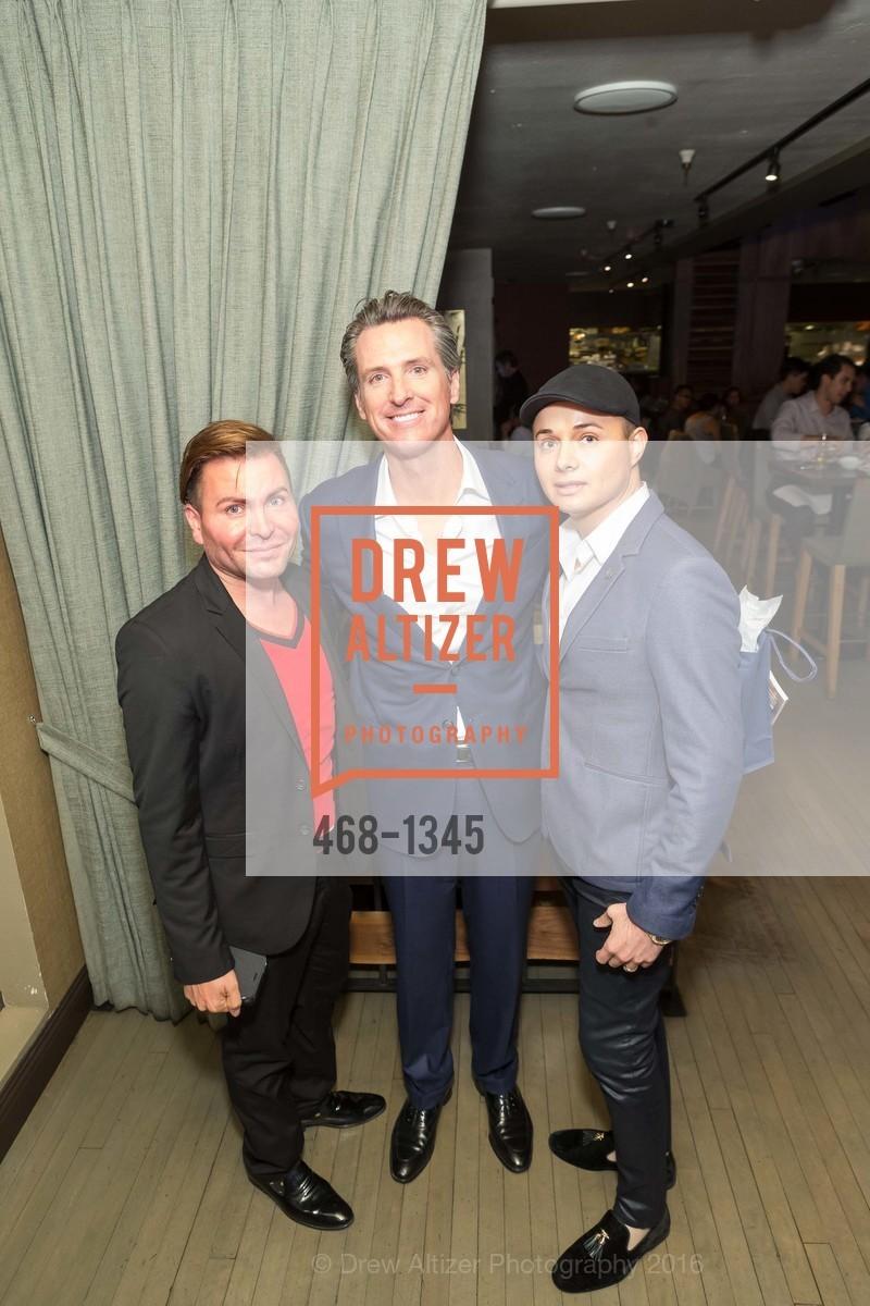 Ronnie Osorio, Gavin Newsom, Umberto Garibay, Photo #468-1345