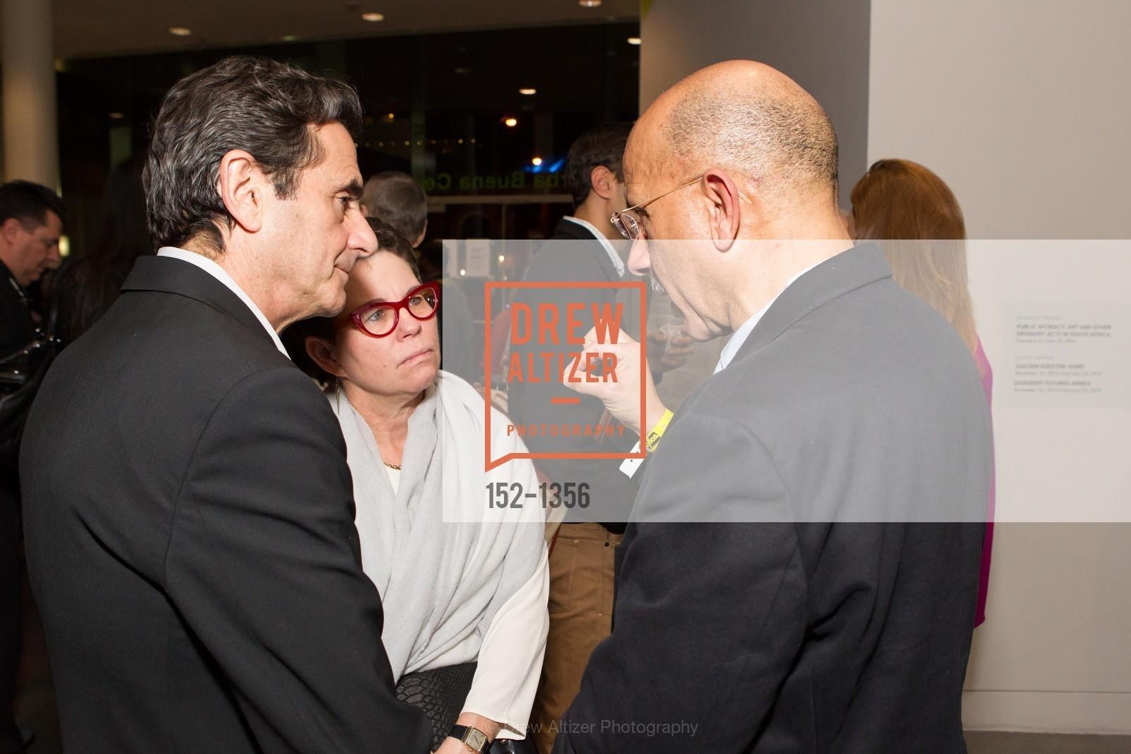 Neal Benezra, Maria Makela, Chuck Collins, Photo #152-1356