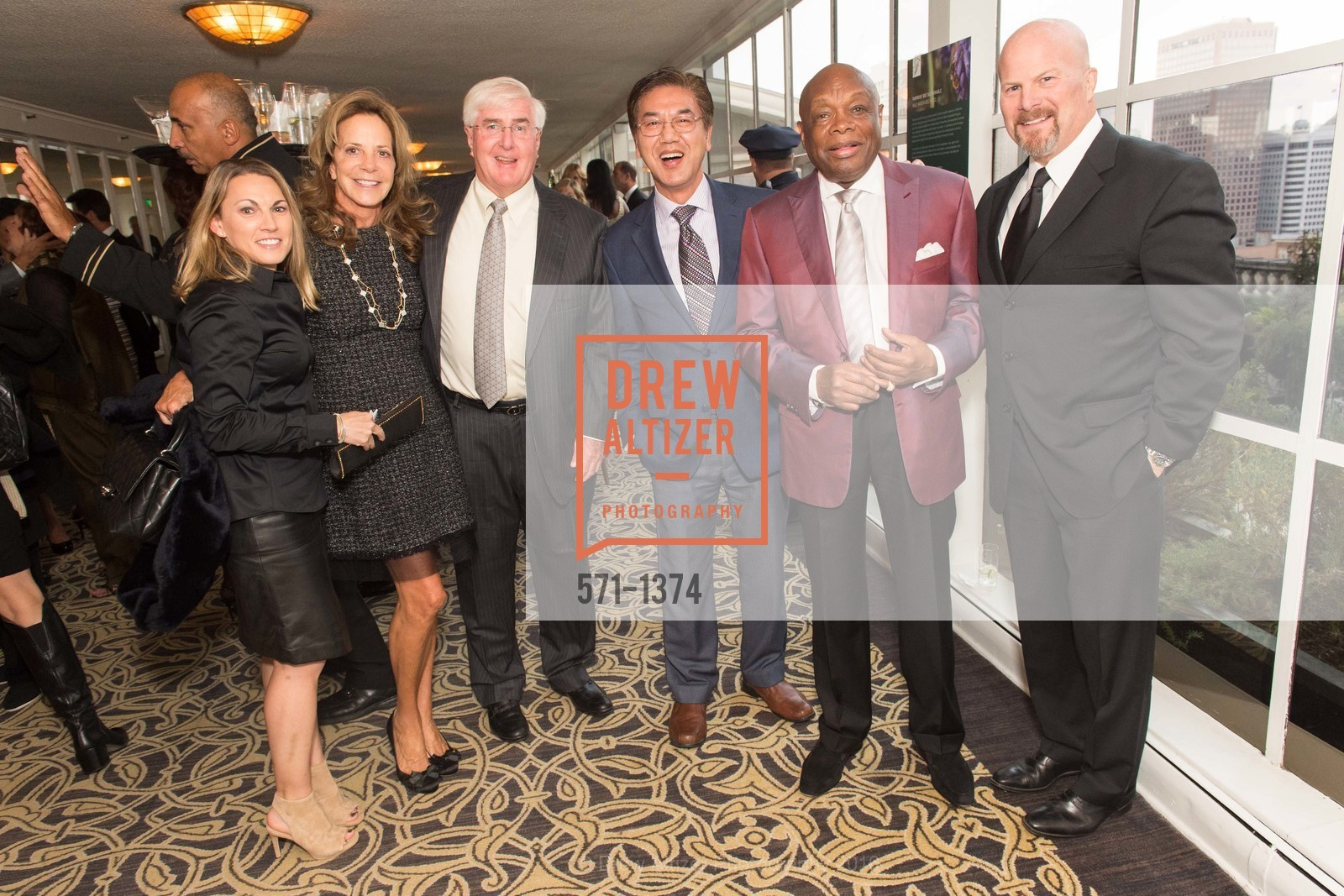 Gayle Conway, Ron Conway, Paul Tangsanich, Willie Brown, Photo #571-1374