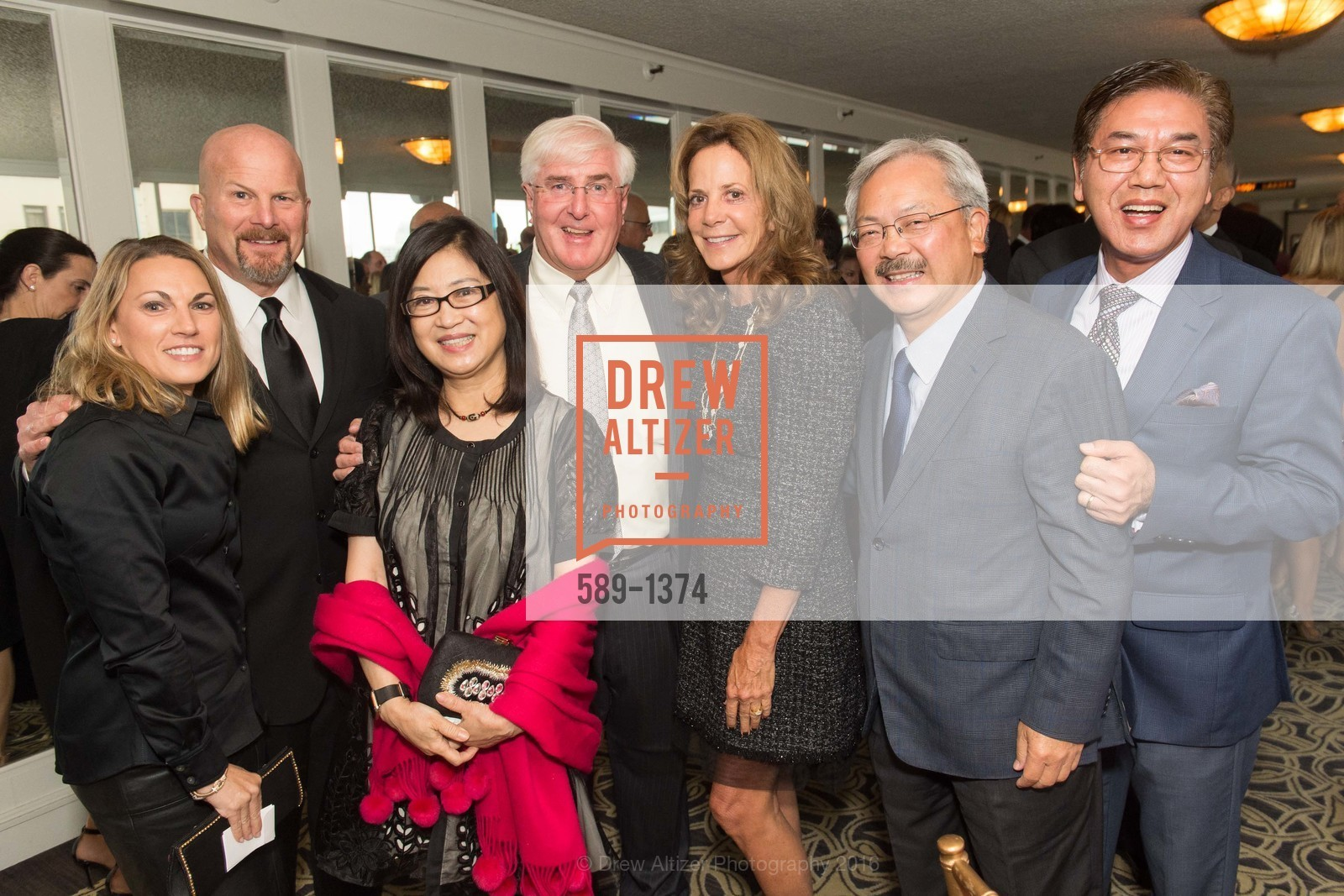Sharon Suhr, Greg Suhr, Anita Lee, Ron Conway, Gayle Conway, Ed Lee, Paul Tansanich, Photo #589-1374