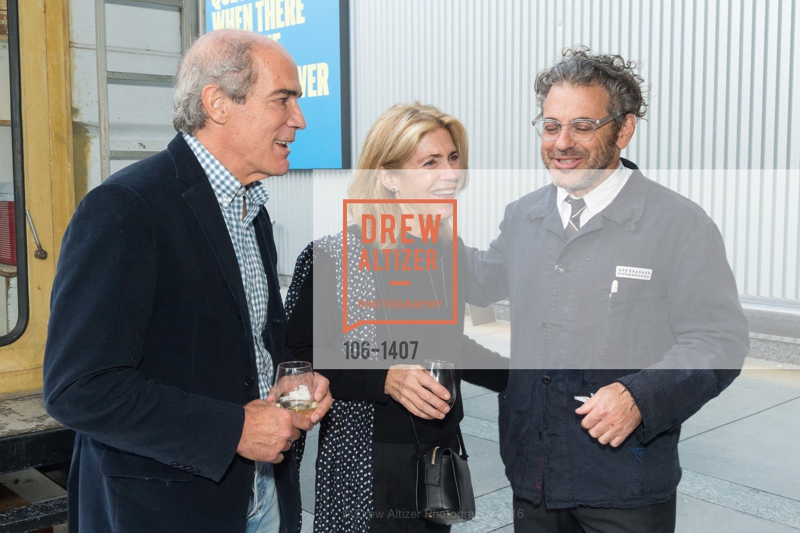Ned Topham, Cathy Topham, Tom Sachs, Photo #106-1407