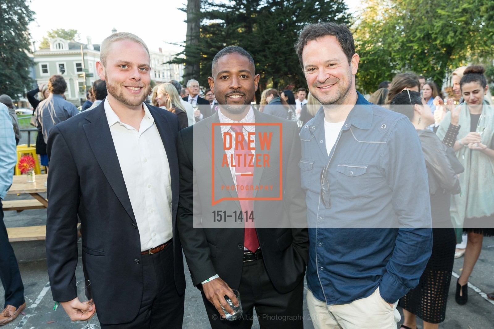 Brian Blake, Roscoe Mapps, Alex Clemens, Photo #151-1414