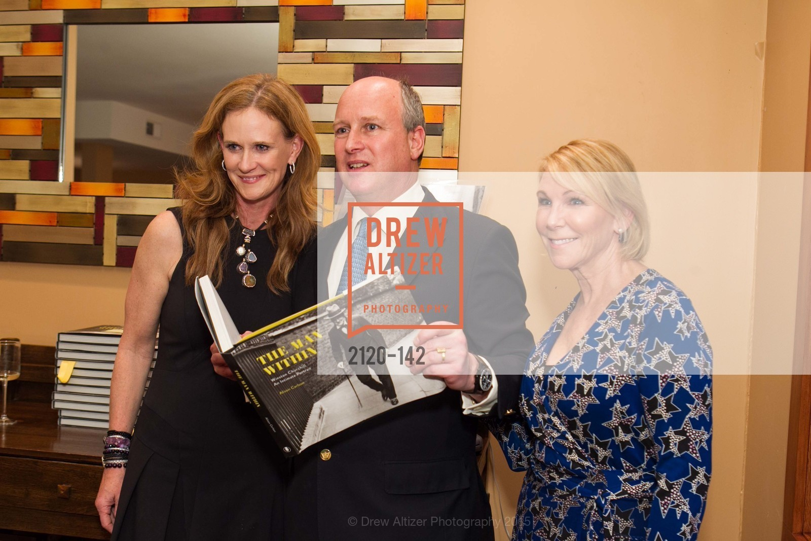 Sukey Forbes, Randolph Churchill, Terri Tiffany, THE MAN WITHIN book launch with Randolph Churchill, Private Residence, June 2nd, 2015,Drew Altizer, Drew Altizer Photography, full-service agency, private events, San Francisco photographer, photographer california