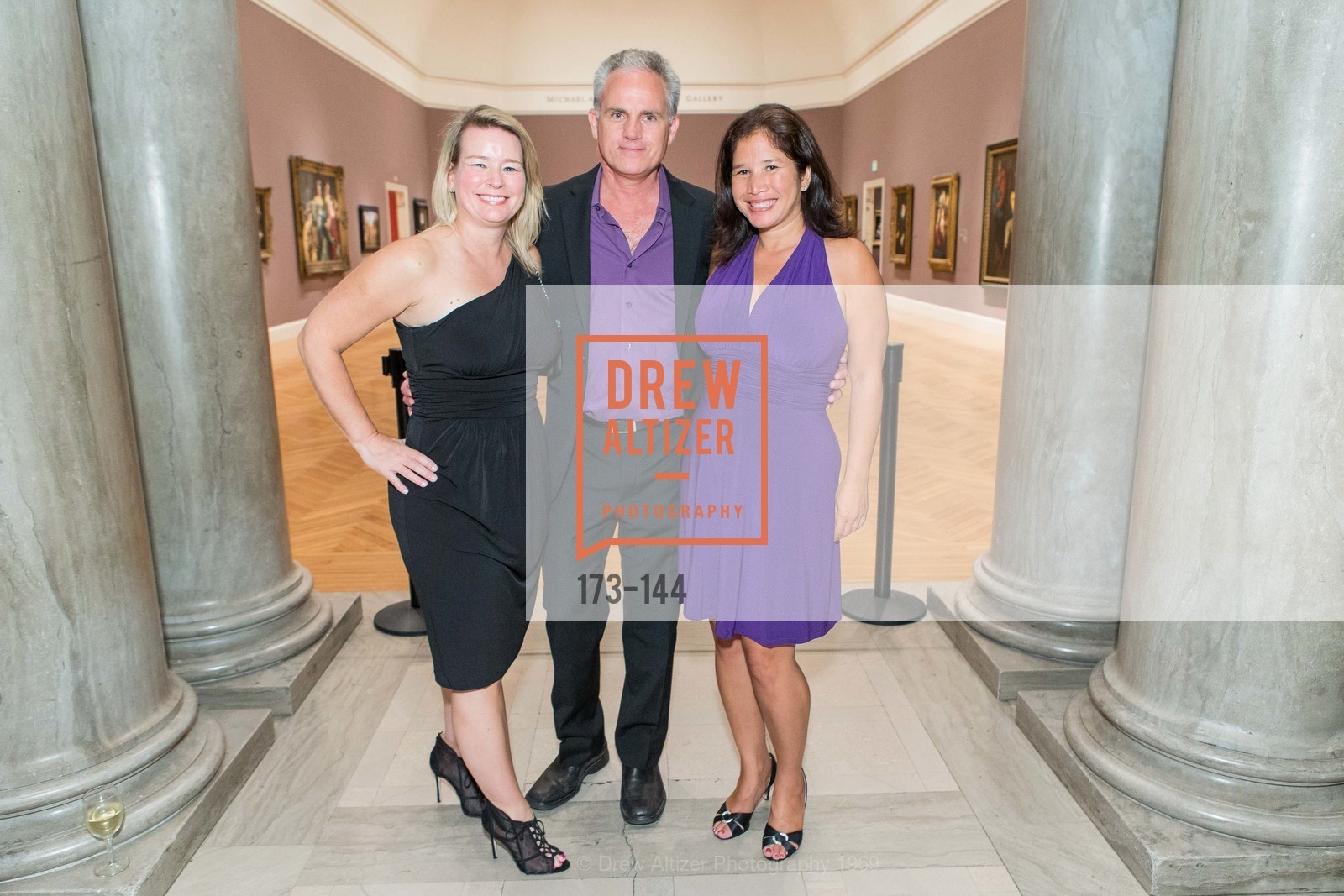 Sarah Gammill, Steve Patzkowski, Amanda Sargisson, ArtPoint's High Style Cocktail Party, Legion of Honor, June 4th, 2015,Drew Altizer, Drew Altizer Photography, full-service agency, private events, San Francisco photographer, photographer california