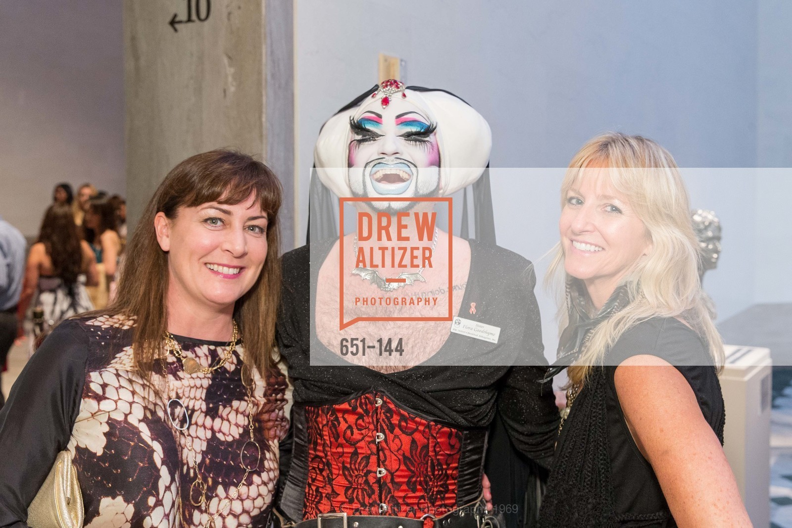 Laurianne Lassek, Sister Flora Goodthyme, Polly Kopman, ArtPoint's High Style Cocktail Party, Legion of Honor, June 4th, 2015,Drew Altizer, Drew Altizer Photography, full-service event agency, private events, San Francisco photographer, photographer California