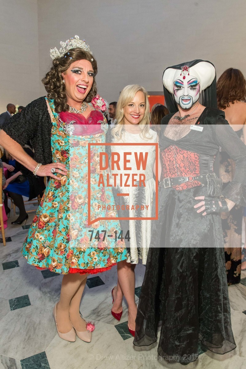 Sister Flora Goodthyme, Ariane Nalty, Queen Dilly Dally, ArtPoint's High Style Cocktail Party, Legion of Honor, June 4th, 2015,Drew Altizer, Drew Altizer Photography, full-service agency, private events, San Francisco photographer, photographer california
