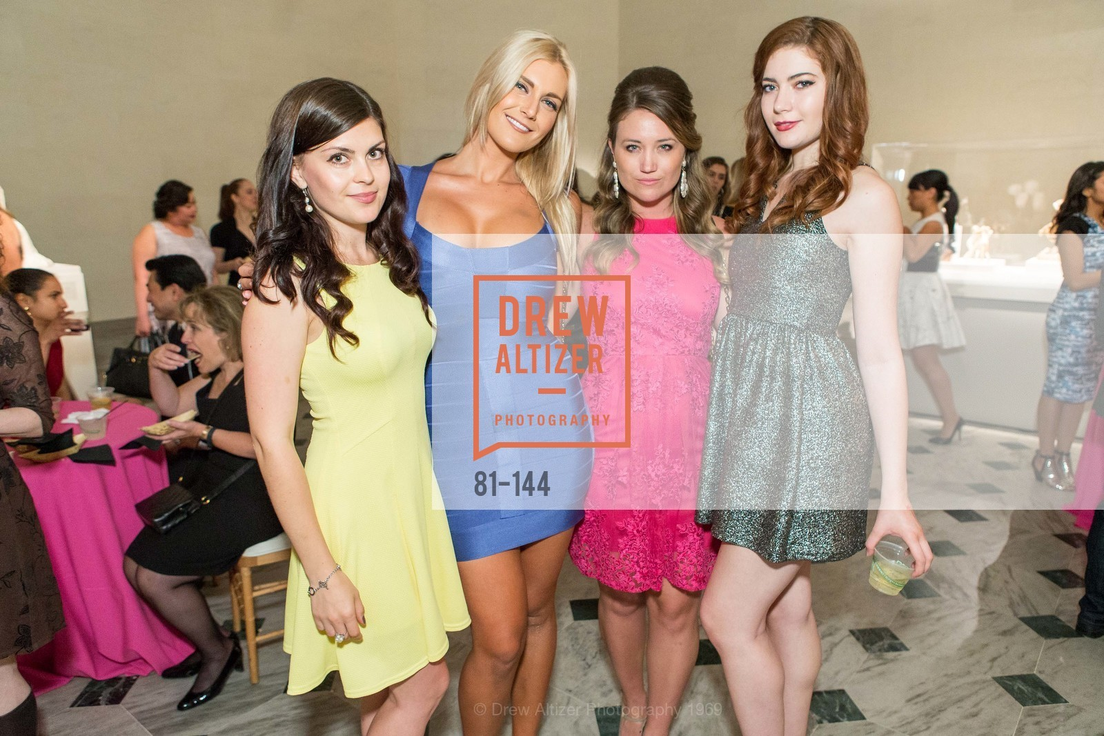 Tatiana Avmanova, Paige Johnson, Noelle Lynne, Emily Macheny, ArtPoint's High Style Cocktail Party, Legion of Honor, June 4th, 2015,Drew Altizer, Drew Altizer Photography, full-service agency, private events, San Francisco photographer, photographer california