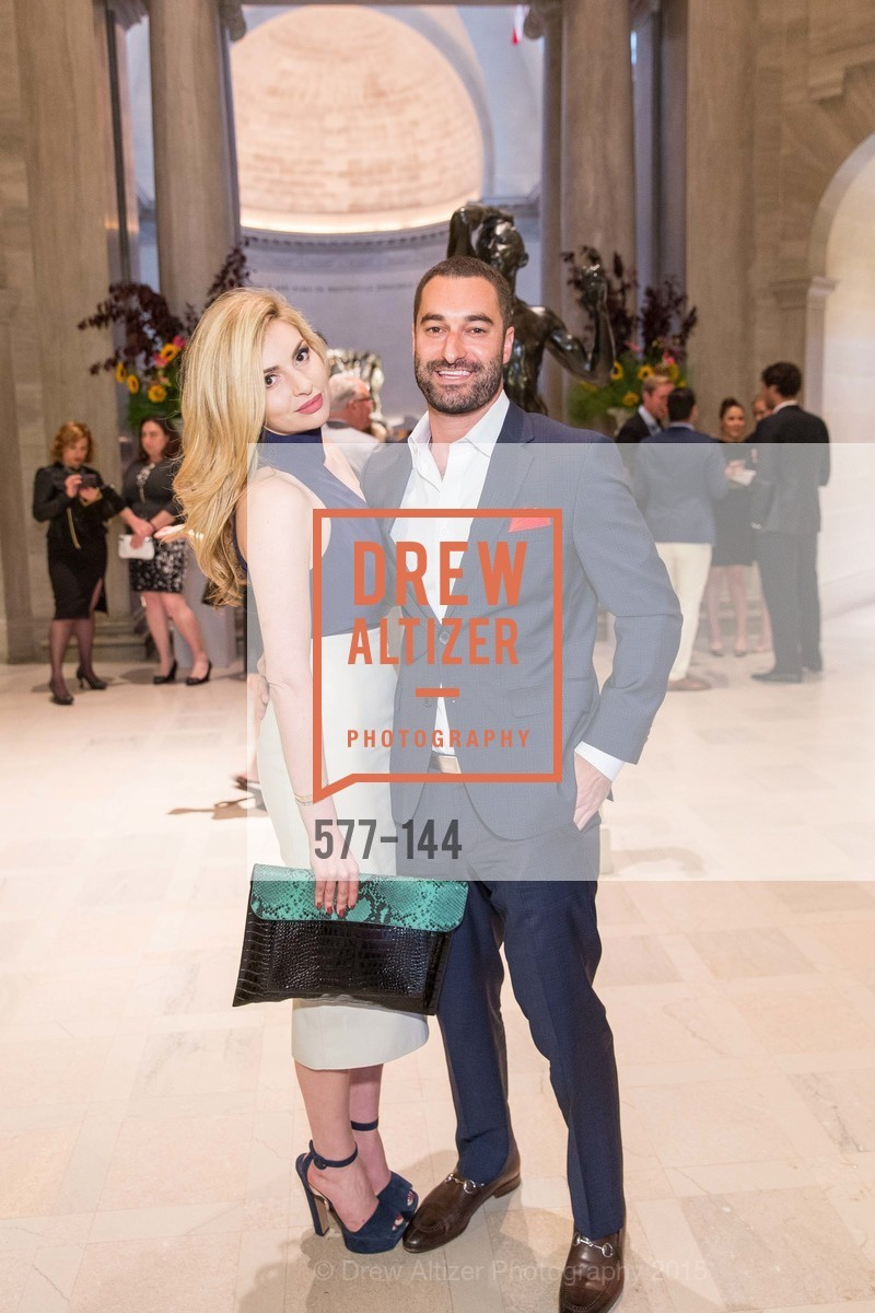 Olivia Mirzoyev, Mitchell Schneider, ArtPoint's High Style Cocktail Party, Legion of Honor, June 4th, 2015,Drew Altizer, Drew Altizer Photography, full-service agency, private events, San Francisco photographer, photographer california