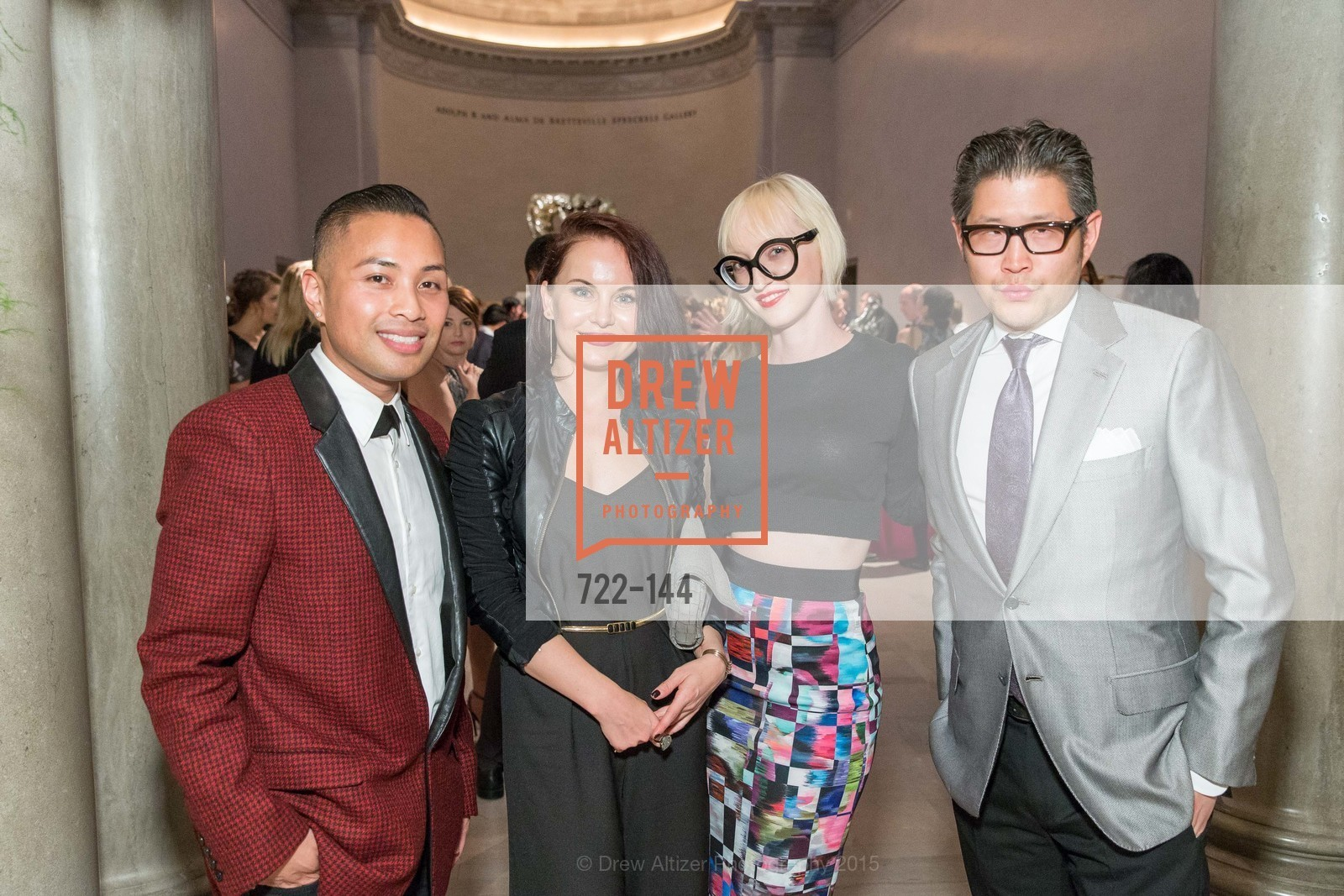 Ramel Yema, Renata Seiridova, Zoey Wong, Michael Wong, ArtPoint's High Style Cocktail Party, Legion of Honor, June 4th, 2015,Drew Altizer, Drew Altizer Photography, full-service agency, private events, San Francisco photographer, photographer california