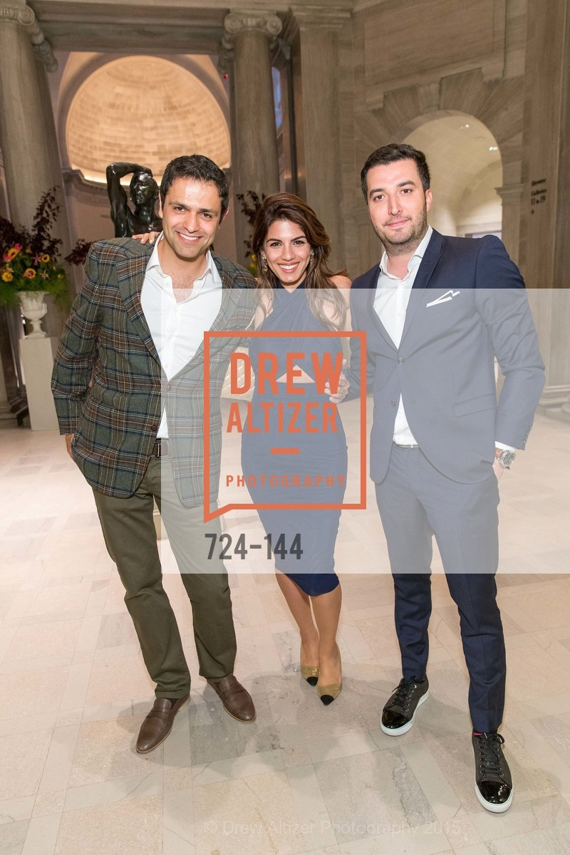 Amir Aliabadi, Samira Naraghi, Siavash Masoodi, ArtPoint's High Style Cocktail Party, Legion of Honor, June 4th, 2015