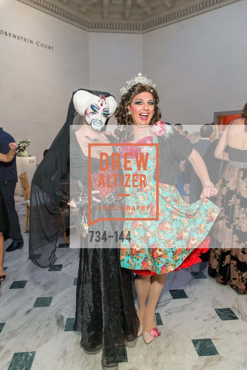 Sister Flora Goodthyme, Queen Dilly Dally, ArtPoint's High Style Cocktail Party, Legion of Honor, June 4th, 2015,Drew Altizer, Drew Altizer Photography, full-service agency, private events, San Francisco photographer, photographer california