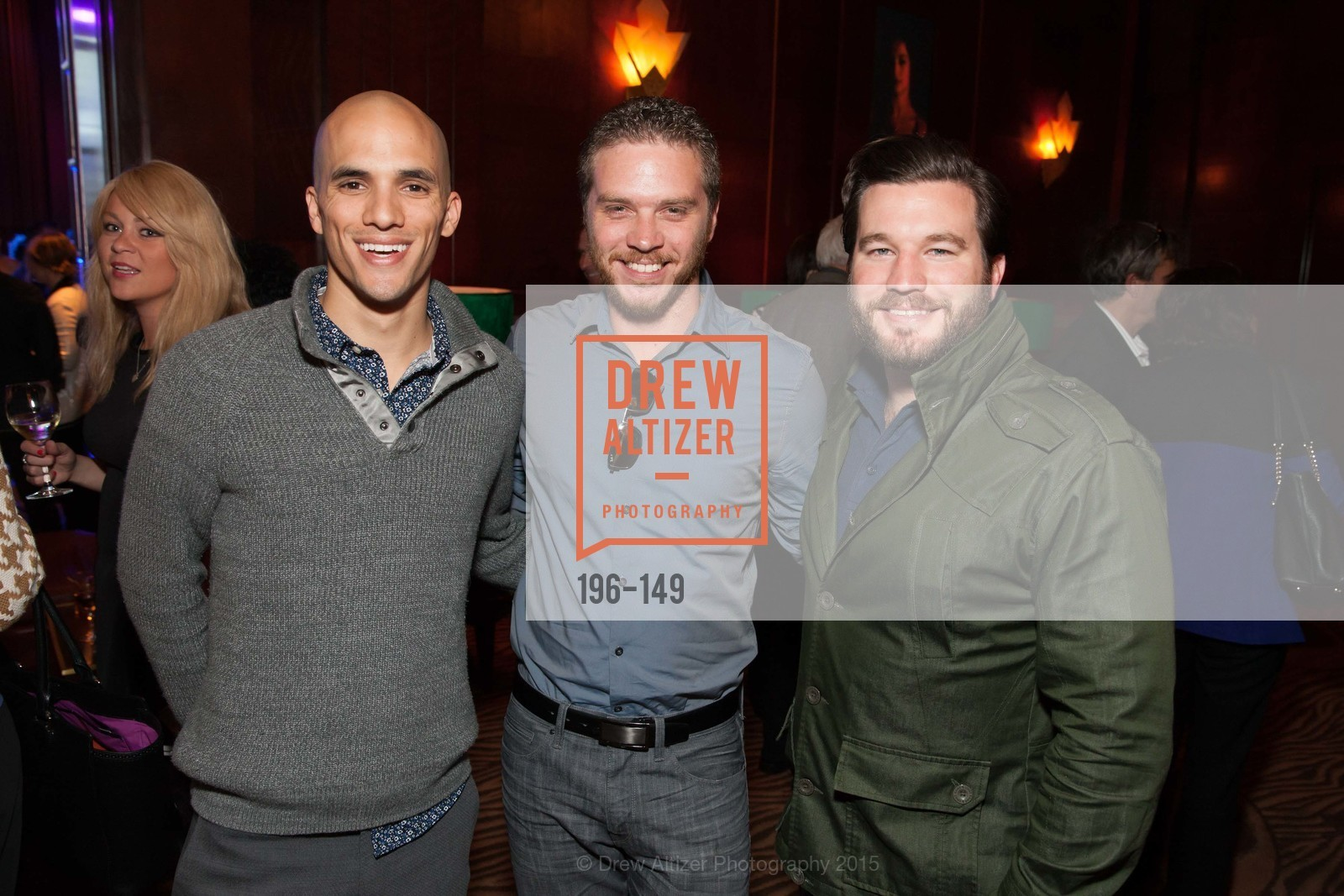 Michael Taylor, Stephen Pettus, Matt Dort, CLIFT San Francisco Celebrates 100 Years, Clift Hotel, Redwood Room and Velvet. 495 Geary St, June 3rd, 2015,Drew Altizer, Drew Altizer Photography, full-service agency, private events, San Francisco photographer, photographer california