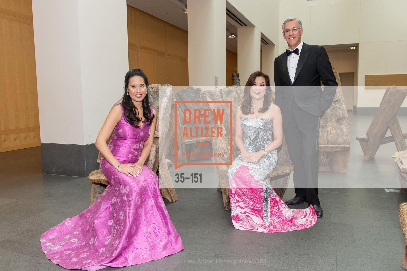 Lorna Ho Randlett, Sung Jin Ingriselli, Frank Ingriselli, Asian Art Museum 28 Chinese Opening Night Gala, Asian Art Museum. 200 Larkin St, June 2nd, 2015