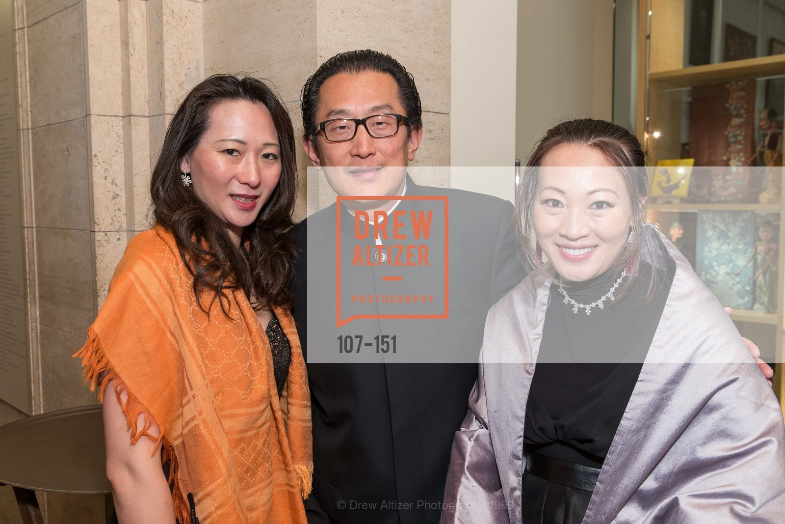 Carina Qiu, Anton Qiu, Helina Au, Asian Art Museum 28 Chinese Opening Night Gala, Asian Art Museum. 200 Larkin St, June 2nd, 2015,Drew Altizer, Drew Altizer Photography, full-service agency, private events, San Francisco photographer, photographer california