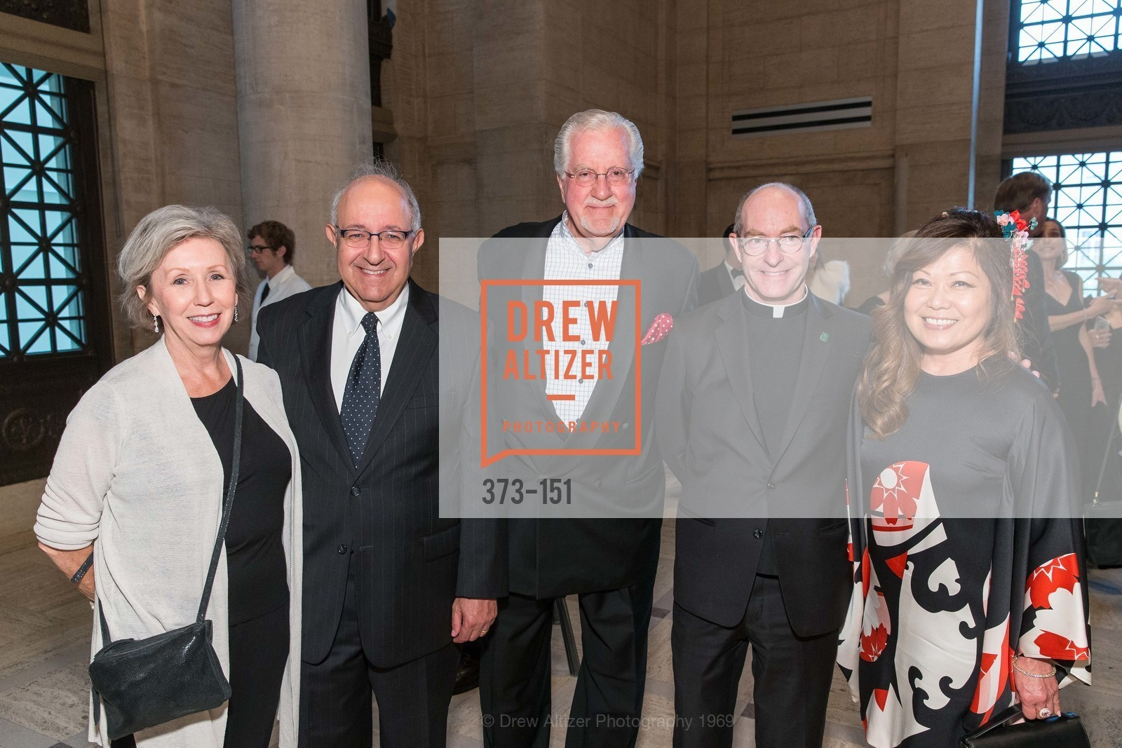 Barbara Ruvolo, Nace Ruvolo, Joe Cotchett, Father Paul Fitzgerald, Angie Zhai, Asian Art Museum 28 Chinese Opening Night Gala, Asian Art Museum. 200 Larkin St, June 2nd, 2015,Drew Altizer, Drew Altizer Photography, full-service agency, private events, San Francisco photographer, photographer california