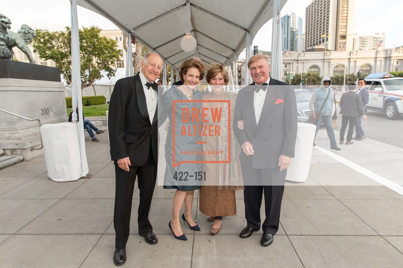 Ronald George, Barbara George, Pam Kramlich, Dick Kramlich, Asian Art Museum 28 Chinese Opening Night Gala, Asian Art Museum. 200 Larkin St, June 2nd, 2015