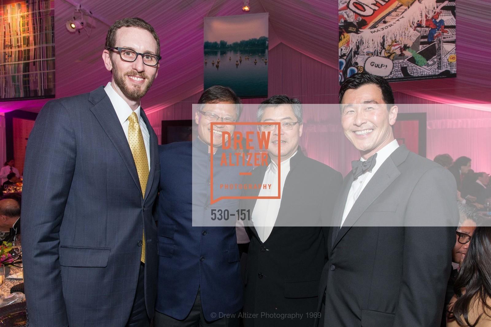 Supervisor Scott Wiener, Jerry Yang, Jay Xu, John Mah, Asian Art Museum 28 Chinese Opening Night Gala, Asian Art Museum. 200 Larkin St, June 2nd, 2015