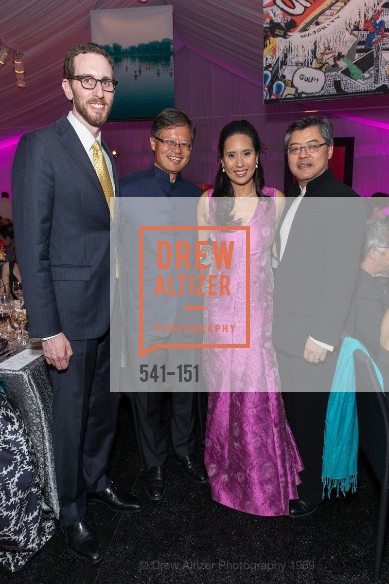 Supervisor Scott Wiener, Jerry Yang, Lorna Ho Randlett, Jay Xu, Asian Art Museum 28 Chinese Opening Night Gala, Asian Art Museum. 200 Larkin St, June 2nd, 2015,Drew Altizer, Drew Altizer Photography, full-service agency, private events, San Francisco photographer, photographer california