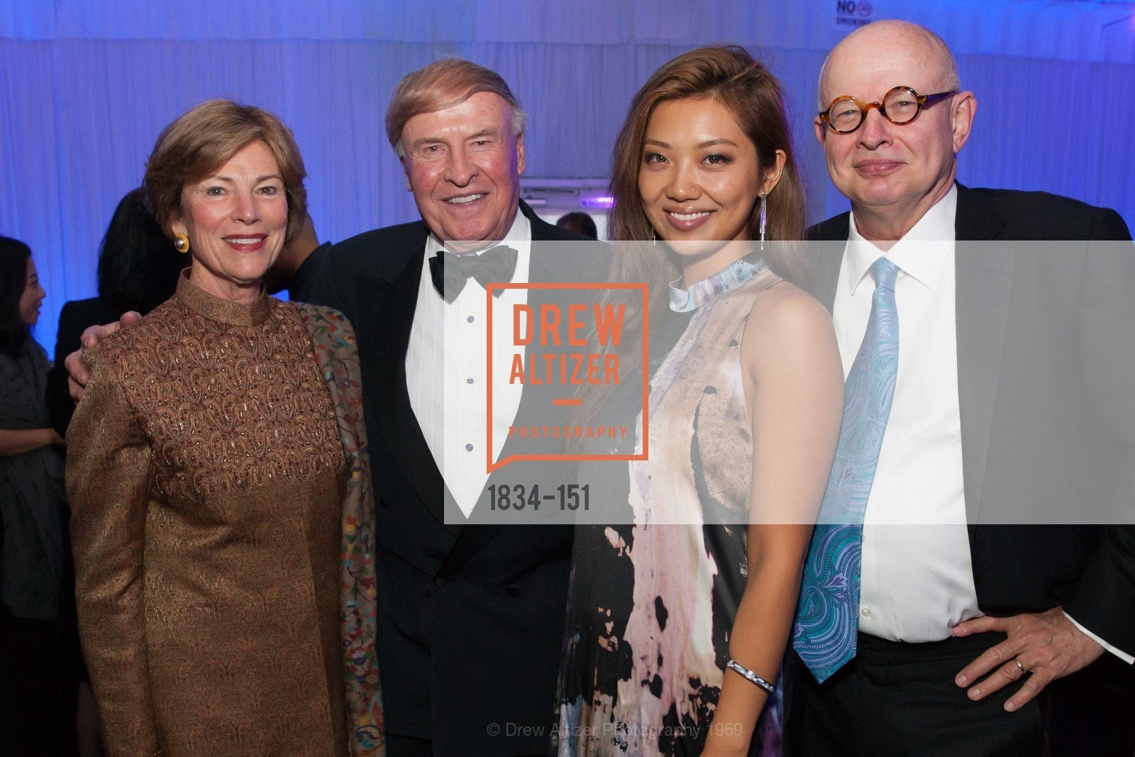 Pam Kramlich, Dick Kramlich, Angie Zhai, Ken Wilcox, Asian Art Museum 28 Chinese Opening Night Gala, Asian Art Museum. 200 Larkin St, June 2nd, 2015,Drew Altizer, Drew Altizer Photography, full-service agency, private events, San Francisco photographer, photographer california
