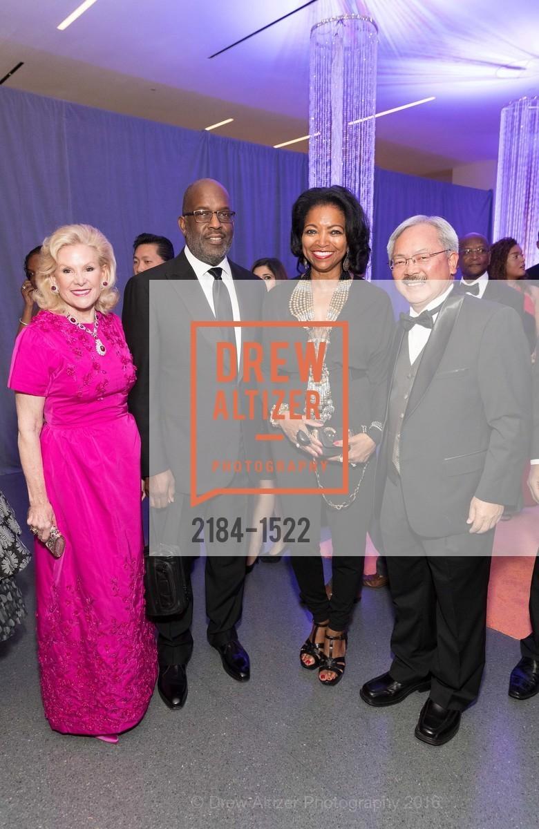 Dede Wilsey, Bernard Tyson, Denise Bradley Tyson, Ed Lee, Photo #2184-1522