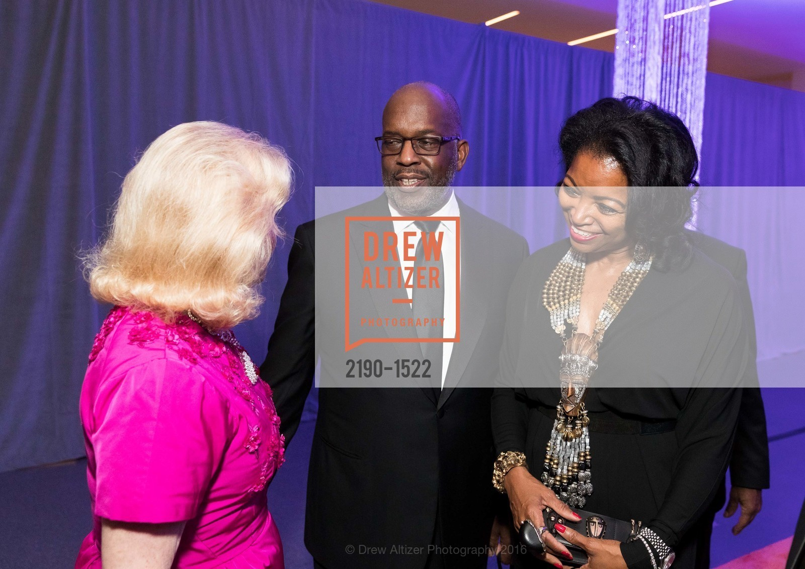 Dede Wilsey, Bernard Tyson, Denise Bradley Tyson, Photo #2190-1522