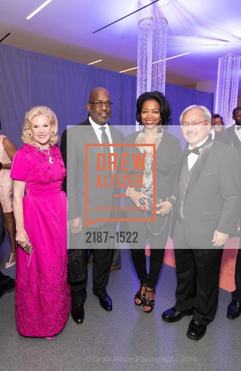 Dede Wilsey, Bernard Tyson, Denise Bradley Tyson, Ed Lee, Photo #2187-1522