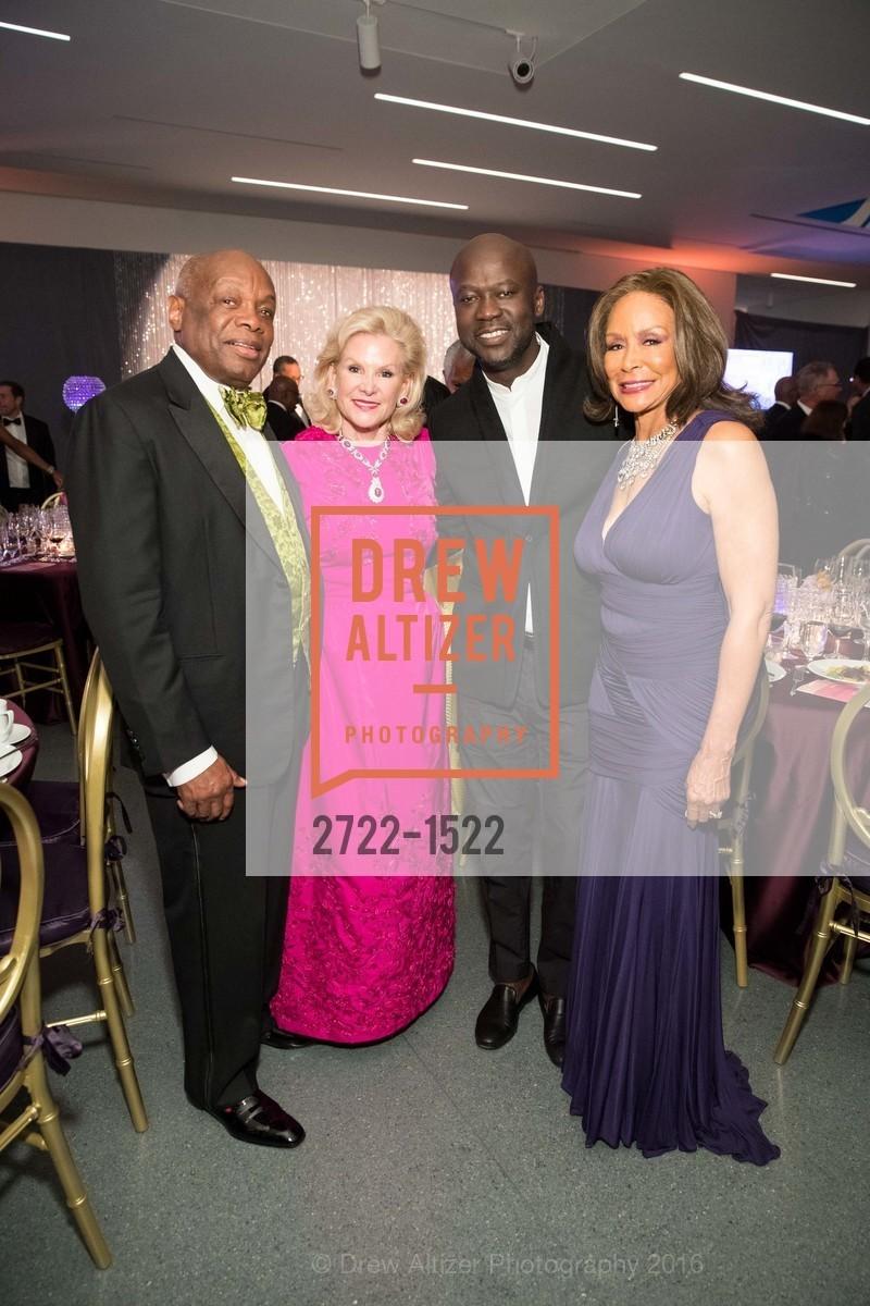Willie Brown, Dede Wilsey, David Adjaye, Freda Payne, Photo #2722-1522