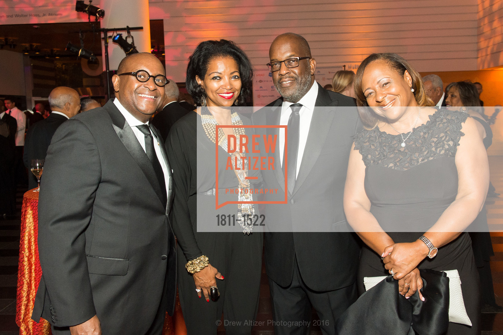 Michael Washington, Denise Bradley Tyson, Bernard Tyson, Stasia Washington, Photo #1811-1522