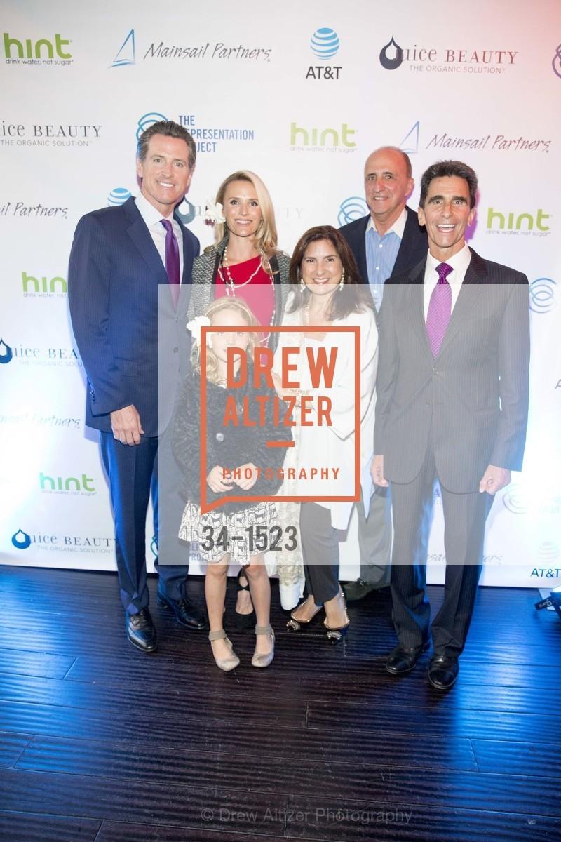 Gavin Newsom, Jennifer Siebel Newsom, Madison Newsom, John Scully, Regina Scully, Mark Leno, Photo #34-1523
