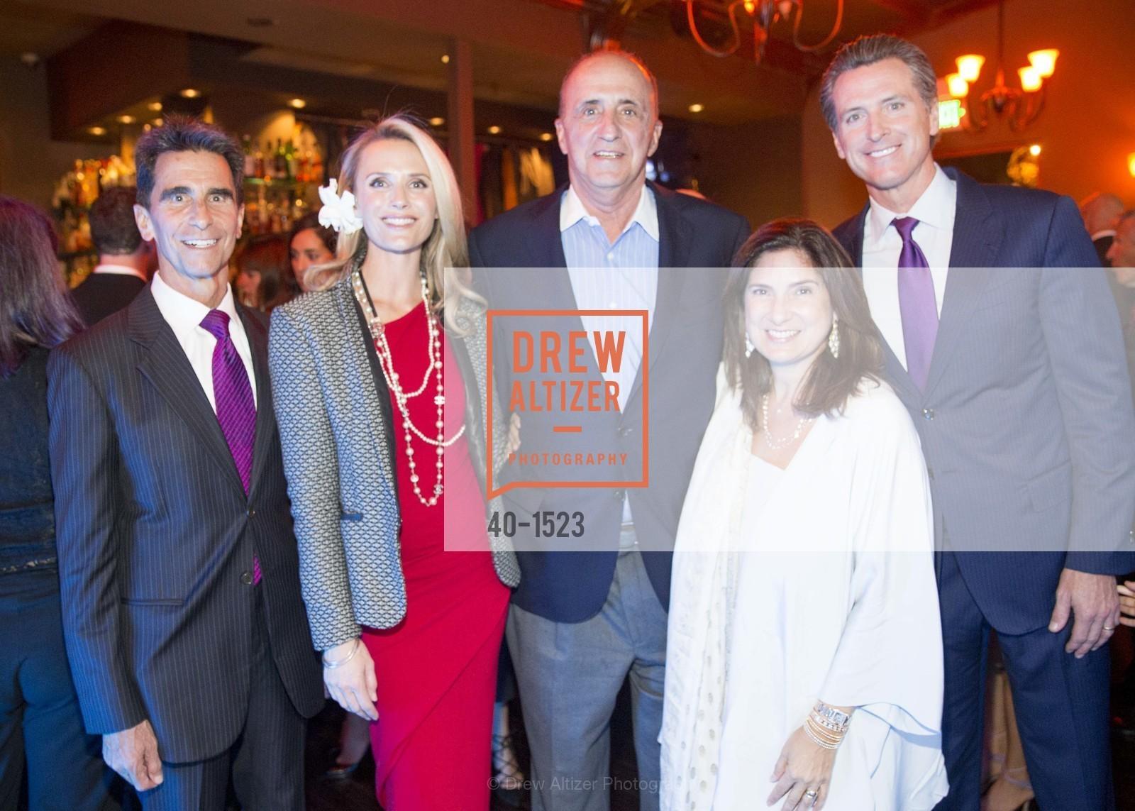 Gavin Newsom, Jennifer Siebel Newsom, John Scully, Regina Scully, Mark Leno, Photo #40-1523